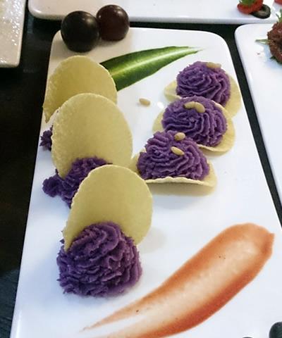 果粒紫薯塔